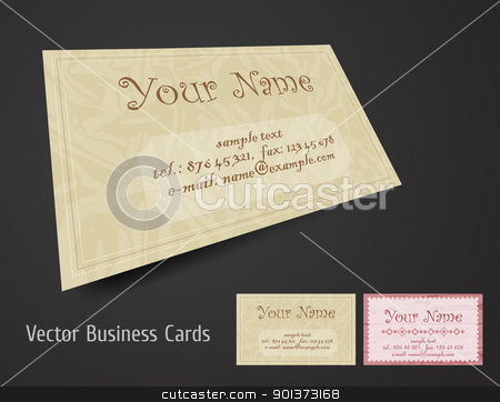 Business cards stock vector clipart, Vector business card set by vtorous