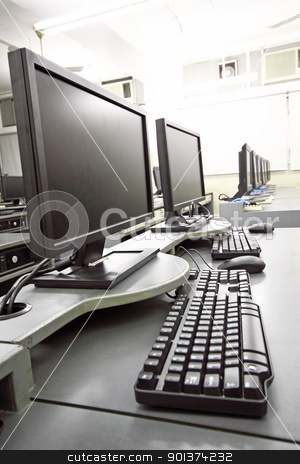 computer room stock photo, computer room by Keng po Leung
