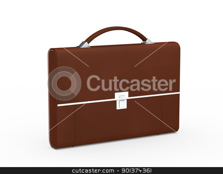 business bag briefcase brown stock photo, 3d business bag briefcase brown and chrome by d3images