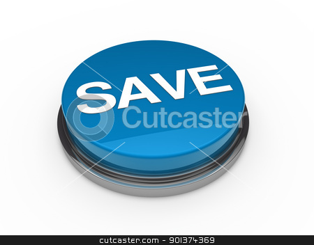 button green chrome save  stock photo, 3d button blue chrome save white text by d3images