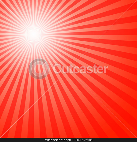 Red summer sun stock photo, Red summer sun - abstract illustration by orson
