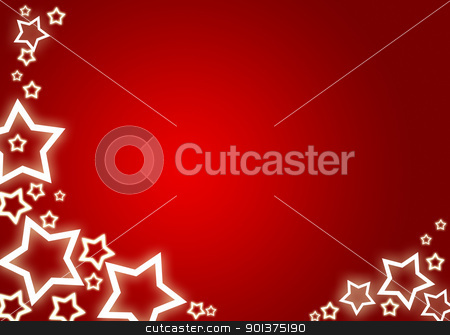 Christmas background / card stock photo, Red christmas background / card with white stars by orson