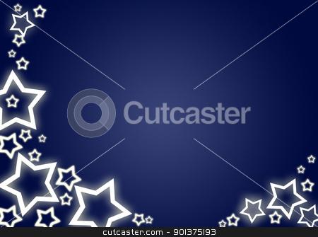 Christmas background / card stock photo, Blue christmas background / card with white stars by orson