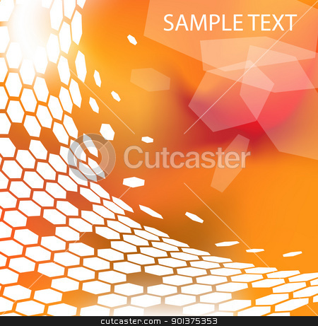 modern technical background  stock vector clipart, Trendy modern technical background with hexagons by orson