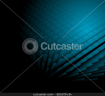 3d abstract dynamic blue background stock vector clipart, 3d abstract dynamic blue background on black by orson
