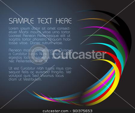 abstract dark background  stock vector clipart, abstract dark background  with colorful circles by orson