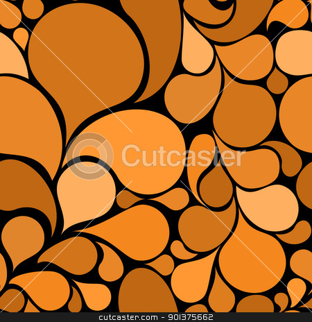 Orange abstract seamless pattern stock vector clipart, Orange abstract seamless pattern made from various spatters (vector) by orson