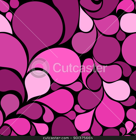 Pink abstract seamless pattern stock vector clipart, Pink abstract seamless pattern made from various spatters (vector)   by orson