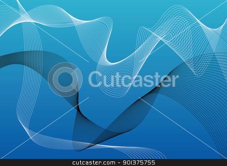Modern blue wallpaper stock vector clipart, Modern blue wallpaper / background - vector by orson