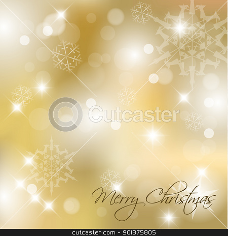 Vector Christmas background with white snowflakes stock vector clipart, Vector Christmas background with white snowflakes and place for your text by orson