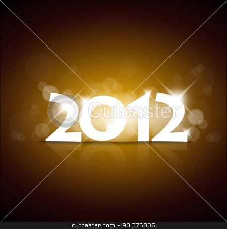 Vector New Year card 2012 stock vector clipart, Vector New Year card 2012 with back light and place for your text by orson