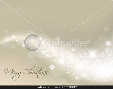 Light silver abstract Christmas background stock vector clipart, Light silver abstract Christmas background with white snowflakes by orson