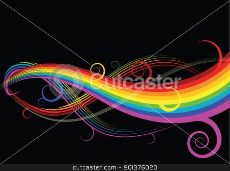 Abstract rainbow curves stock vector clipart, Abstract rainbow curves by orson
