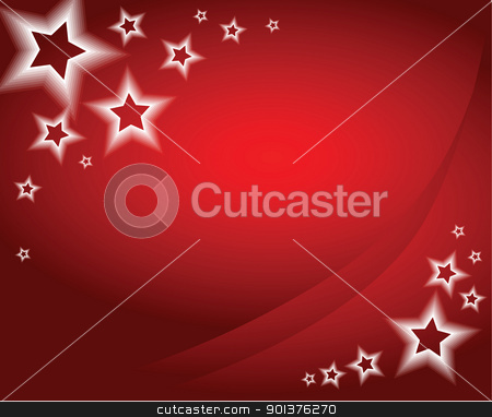Christmas background / card stock vector clipart, Red christmas background / card by orson