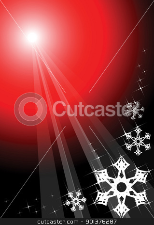 Christmas background stock vector clipart, Red christmas background with white snowflakes  by orson