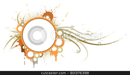 Background with circles and place for your text stock vector clipart, Background with circles and place for your text by orson