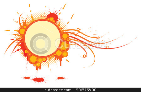 Background with circles stock vector clipart, Background with circles and place for your text  by orson