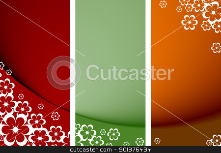 Abstract floral background  stock vector clipart, Abstract floral background with place for your text  by orson