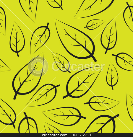 Fresh green leafs pattern stock vector clipart, Fresh green leafs texture - seamless pattern by orson