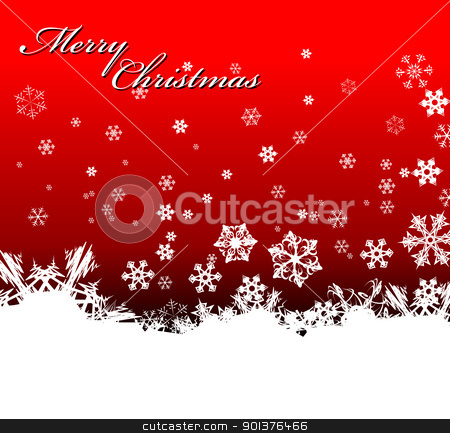 Christmas background  stock vector clipart, Christmas background with white snowflakes by orson