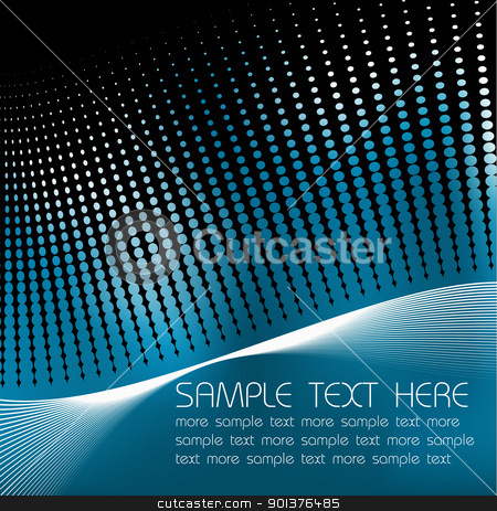 Abstract blue background stock vector clipart, Abstract blue background with sample text by orson