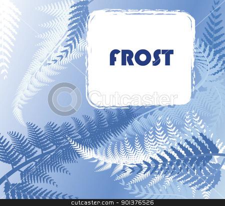 Winter frosty pattern stock vector clipart, Winter frosty pattern on a window by orson