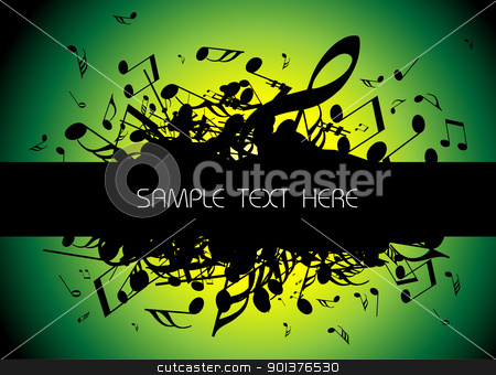 musical background  stock vector clipart, musical background with place for your text by orson