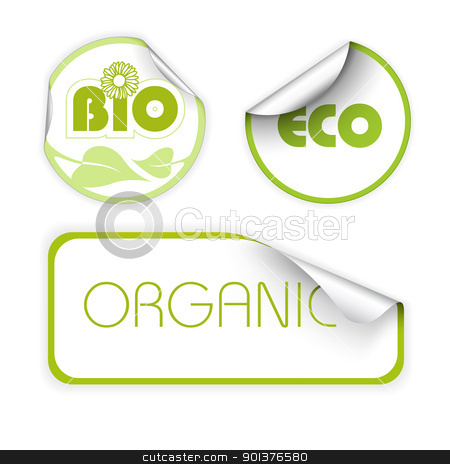 Set of labels for organic stock vector clipart, Set of labels for organic, fresh, healthy, bio food by orson
