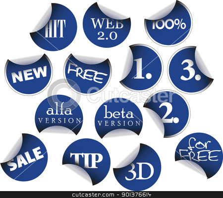 Labels badges and stickers stock vector clipart, Labels badges and stickers with various texts by orson