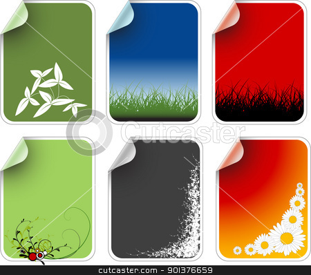 Labels badges and stickers  stock vector clipart, Labels badges and stickers with various motives by orson