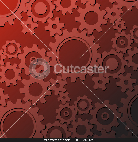 Rusty cogwheels background stock vector clipart, Background made from various rusty cogwheels (vector) by orson
