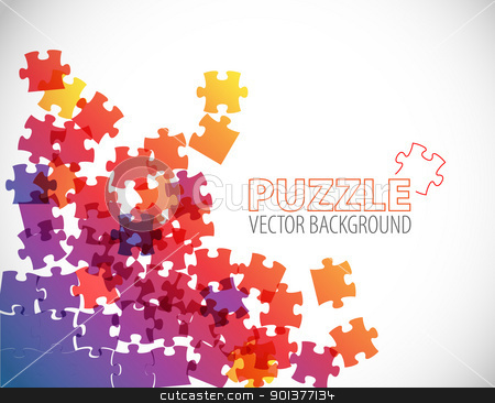 Abstract puzzle background stock vector clipart, Abstract background made from puzzle pieces by orson