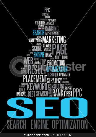 SEO - Search Engine Optimization poster stock vector clipart, SEO - Search Engine Optimization poster for your web  by orson