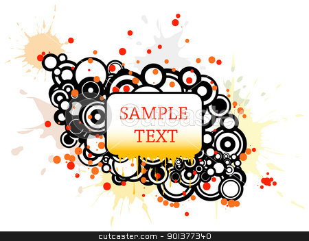 Background with circles and place for your text stock vector clipart, Background with circles, spots and place for your text by orson
