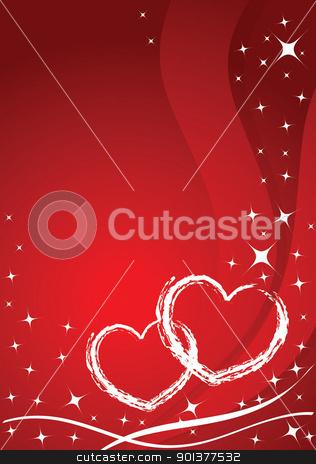 Vector valentine card stock vector clipart, Vector valentine card - stars and hearts by orson