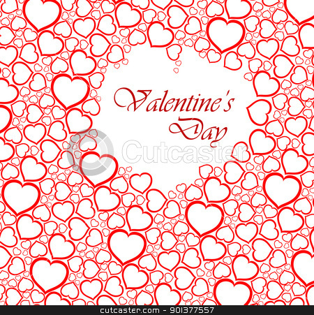 Love vector background made from red hearts  stock vector clipart, Love vector background made from red hearts (valentine's day card)  by orson