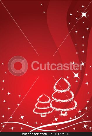 Vector christmas background  stock vector clipart, Vector christmas background / card by orson