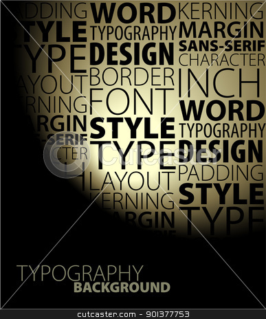Abstract design and typography background stock vector clipart, Dark Abstract design and typography background by orson
