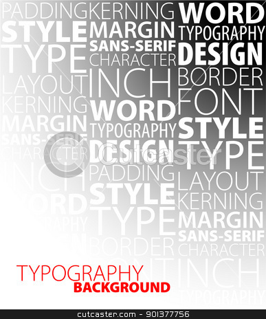 design and typography background stock vector clipart, Abstract design and typography background by orson