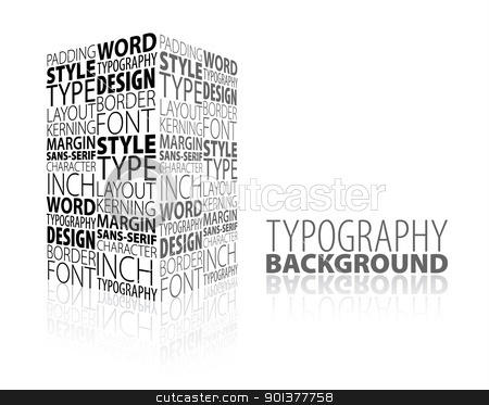 Abstract design and typography background stock vector clipart, Abstract design and typography background with 3D element by orson