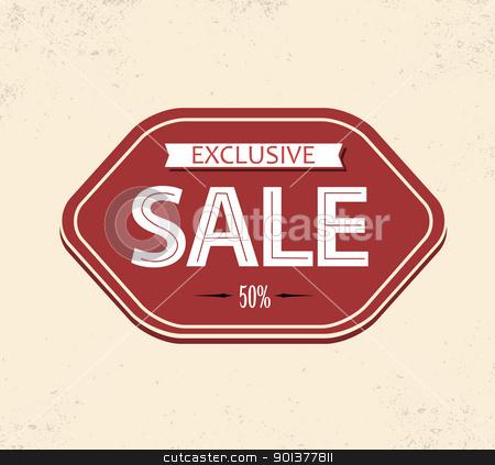 Old retro vintage sale label stock vector clipart, Old retro vintage sale label - red version by orson