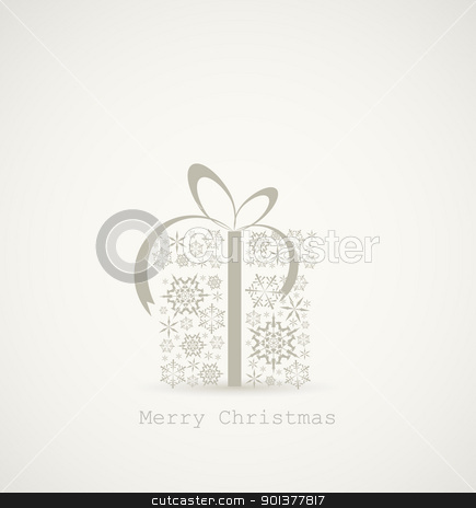 Christmas present box made from snowflakes stock vector clipart, Christmas present box made from snowflakes - christmas card by orson