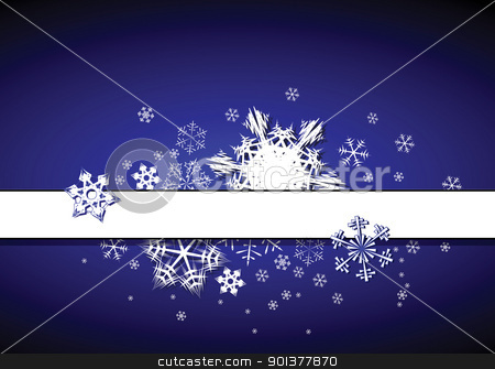Christmas background stock vector clipart, Christmas background with snowflakes and place for your text by orson