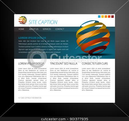 Modern website template stock vector clipart, Modern website template - with some 3D elements by orson