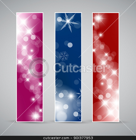 Set of vector christmas / New Year banners stock vector clipart, Set of vector christmas / New Year vertical banners 2012 by orson