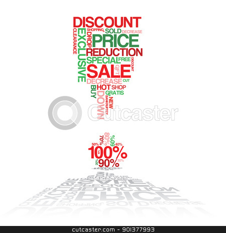 Sale discount poster stock vector clipart, Sale discount poster - made from words by orson