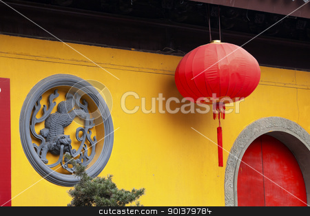 Jade Buddha Temple Jufo Si Shanghai China stock photo, Jade Buddha Temple Jufo Si Shanghai China Most famous buddhist temple in Shanghai by William Perry
