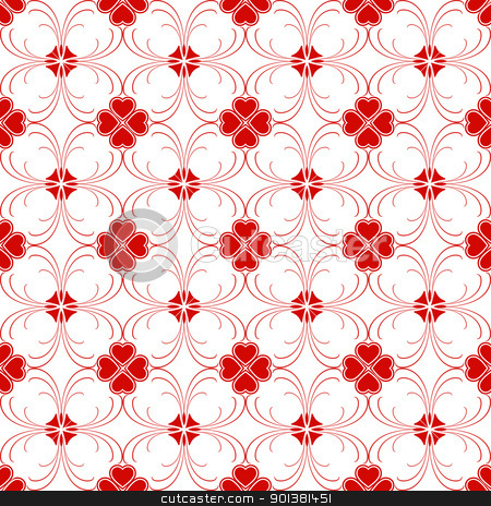 Seamless floral pattern stock vector clipart, Beautiful background of modern seamless floral patterb by Ingvar Bjork
