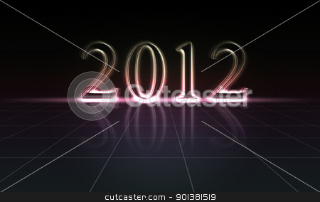 Happy new year 2012 stock photo, Illustration for turn of the year 2012 by tristanbm