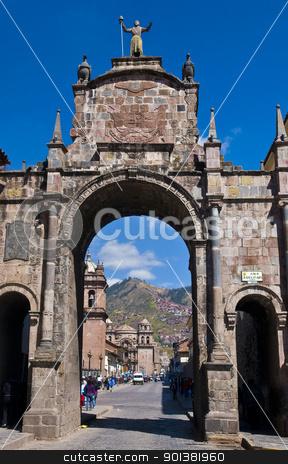 Cusco church of San Francisco stock photo, The